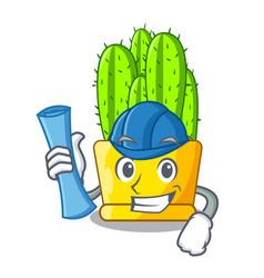 architect cereus cactus bouquet on character vector image
