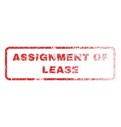 Assignment of lease rubber stamp vector