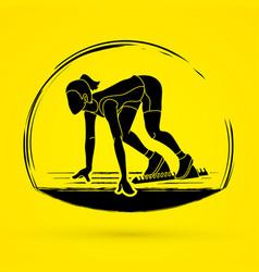 athlete runner runner running graphic vector image