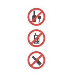 attention sign set red attention symbols vector image