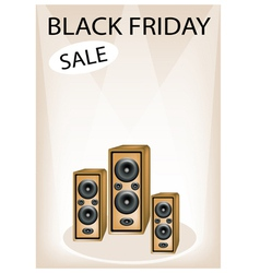 Audio Speaker Shouting Word Black Friday Sale vector