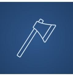 Ax line icon vector