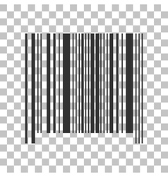 Bar code sign Dark gray icon on transparent vector image