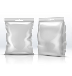 Blank white food paper or foil packaging isolated vector