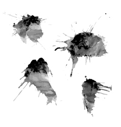 Blots of ink spots vector