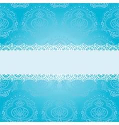 blue square napkin vector image