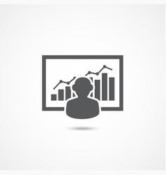 broker icon on white vector image