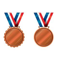 Bronze medals vector image