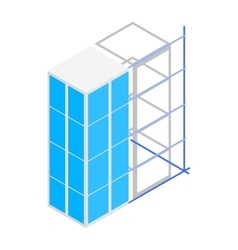 Building construction icon isometric 3d style vector