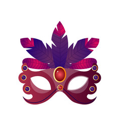 Carnival halloween masquerade female mask with vector