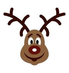 Christmas deer icon flat style vector image