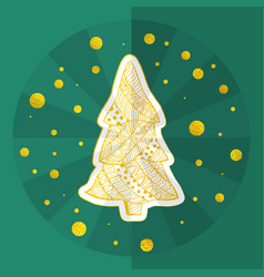christmas holidays card in chinese origami style vector image
