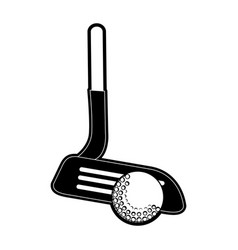 club and ball golf sport vector image
