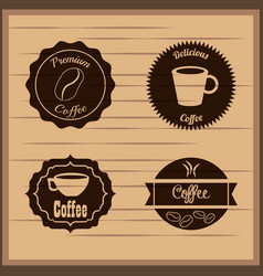 coffee badge labels emblem vector image