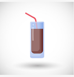 Cola flat icon vector