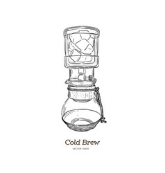 cold brew coffee maker hand draw vector image