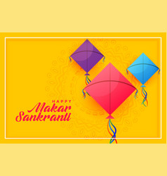 Colorful kites background for happy makar vector