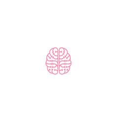 creative brain technology logo vector image