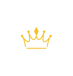 Crown icon design template isolated vector