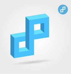 Cubic 3d p abstract letter vector