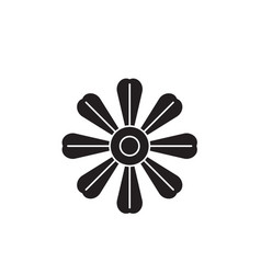 daisy flower black concept icon daisy vector image