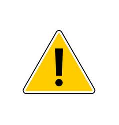 danger sign attention sign hazard warning vector image