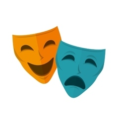 drama and comedy mask vector image