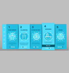 Drinking fountain onboarding icons set vector