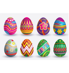 easter egg icon set vector image