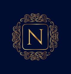 elegant monogram design template wedding monogram vector image