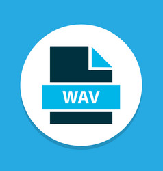 File wav icon colored symbol premium quality vector