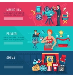 Filmmaking Banners Set vector