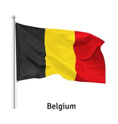 Flag kingdom belgium vector