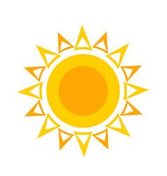 flat sun icon symbol for vector image