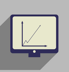 flat web icon with long shadow infographics vector image