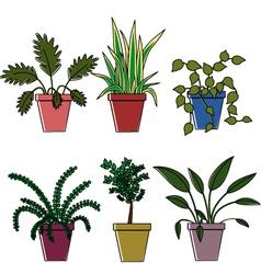 Flower pots vector