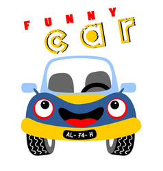 Funny car cartoon vector