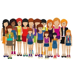 Group people with different ages vector