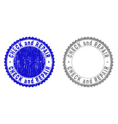 Grunge check and repair scratched watermarks vector