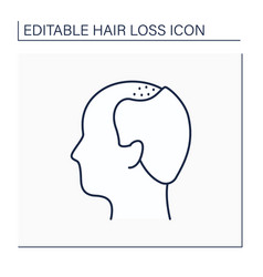 Hair loss line icon vector