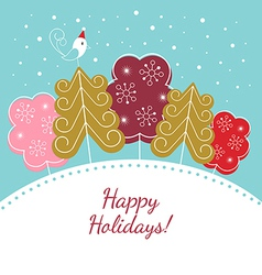 Happy holidays christmas card vector image