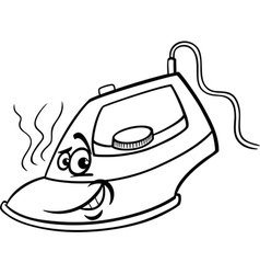 hot iron cartoon coloring page vector image vector image
