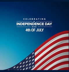 Independence day background and badge logo with vector