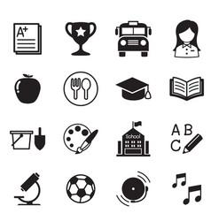 Kindergarten school education icons vector