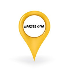 Location Barcelona vector image