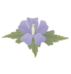 mauve hibiscus vector image