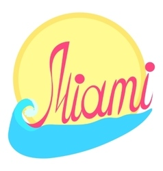 Miami logo cartoon style vector