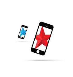 Mobile phone star background star vector
