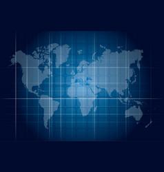 Modern blue digital world map technology concept vector