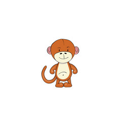 monkey cartoon icon vector image